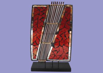 leuchte-segel-35-cm-glasmosaik-mit-bambuszweige-auf-sockel-mit-elektronik