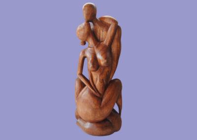 liebespaar-hibiskusholz-dunkelbraun-70cm