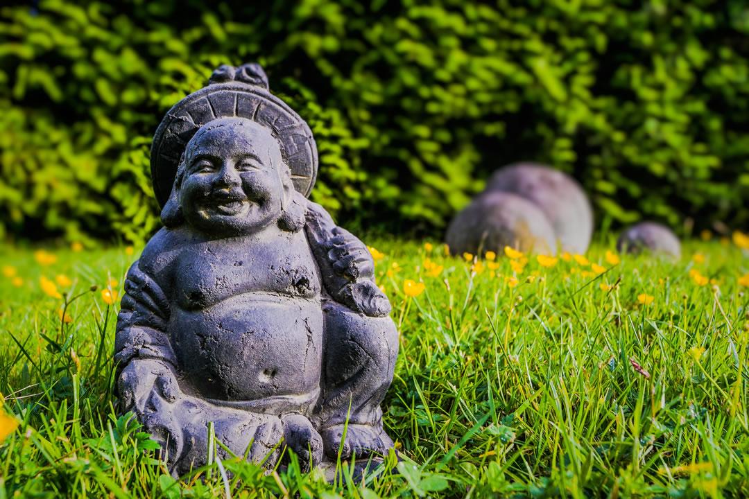 Buddha in Wiese